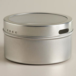 Silver Magnetic Spice Storage Tin, Set of 12 -