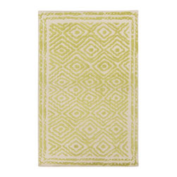 "Surya - Surya Atlas Hand Woven Gold Wool Square Rug, 18"" x 18"" - Developed by visionary award winning designer Beth Lacefield, Atlas introduces a unique construction that gives each design an intriguing high-low effect. Crafted in rich 1% wool, its deconstructed tribal pattern spotlights a series of stand-out shades such as emerald, fuchsia and lime as well as neutral ebony and walnut tones - all showcased on a neutral ground.  Imported.Material: 100% WoolCare Instructions: Blot Stains"