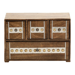 Unmissable and Cool Wood Box with Drawer - Features: