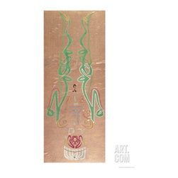 Arabic Calligraphy, Names of Muhammad, Ali and Ali's Two Sons with Fatima, Hassa -