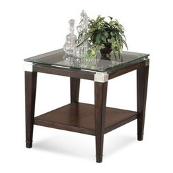 Basett Mirror - Dunhill Rectangle End Table - The Dunhill Rectangle End Table (Cappuccino Finish) has the following features: