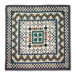 Patch Quilts - Bear Creek Twin Quilt - -Constructed of 100% Cotton  -Machine washable; gentle dry  -Made in India Patch Quilts - QTBCRE