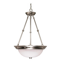 "Nuvo Lighting - Nuvo Lighting 60-3187 3-Light 15"" Pendant with Alabaster Glass - Nuvo Lighting 60-3187 3-Light 15"" Pendant with Alabaster Glass (3) 13W GU24 Lamps Included"