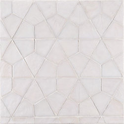 Profile Glass Tile  - Ann Sacks Tile & Stone - Super-cool pattern in a glass mosaic tile. Would love to see this up a whole wall in a kitchen.