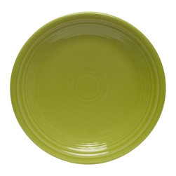 Fiesta - Fiesta Lemongrass Luncheon Plate 9 in. - Set of 4 Multicolor - HPJC937 - Shop for Dishes and Plates from Hayneedle.com! Add some elegance to your next summer picnic with the Fiesta Lemongrass Luncheon Plate 9 in. - Set of 4. Perfectly sized for salads or lunch portions these refreshing plates sport the color of the plant responsible for insect-repelling citronella ... another important supply for a successful picnic. Perfectly round with a simple ribbed design around the rim these plates are also a great way to brighten your existing Fiestaware collection with a unique modern vibe. Made from fully vitrified china with a lead- and cadmium-free glaze each piece is microwave- dishwasher- and freezer-safe and oven-safe up to 400 degrees Fahrenheit.About FiestaAmerica's favorite dinnerware line Fiesta was introduced by the Homer Laughlin China Company in 1936 and quickly became a collector's item. Sets of Fiestaware are passed down from one generation to the next as their Art Deco patterns have a timeless beauty and their durable construction survives lifetimes of everyday use. Made from strong restaurant-quality ceramic with a rainbow of vibrant-colored lead- and cadmium-free glazes and a full assortment of practical shapes this line of kitchenware is easy to mix and match to create your own custom set. Fiestaware patterns have remained consistent throughout the years although new pieces and colors are added so modern cooks can customize and update their collection. Proudly made in America with a 5-year no-chip guarantee each piece is microwave- and oven-safe and dishwasher-safe for easy cleanup.