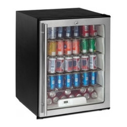 U-Line - ADA24RGLS13 5.3 Cu.Ft. Capacity Undercounter Glass Door Refrigerator  Defrost Te - The ADA24RGL is a 24-inch ADA undercounter glass door refrigerator with a capacity of 53 cubic feet which equates to storage of more than 7-12 cases of 12 oz cans All ADA24R models are ENERGY STAR rated and the glass door model is Consortium for Ener...