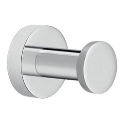 Gedy - Modern Round Chromed Brass Bathroom Hook - Simple round contemporary robe, clothes, or towel hook. Sleek wall mounted bathroom hook made out of high quality brass and finished in polished chrome. Designed and made in Italy by Gedy, and part of the Ustica Collection. Circular robe, towel, or clothes hook. Wall mounted bathroom hook. Made of high quality brass. Polished chrome finish. From the Gedy Ustica Collection.
