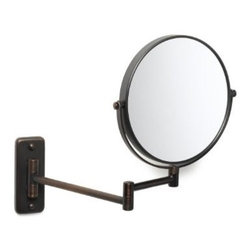 "Jerdon - Jerdon JP7506BZ 8"" Wall Mount Mirror in Bronze - Jerdon-JP7506BZ 8"" Diameter Wall-Mount Mirror in BronzeWall mounted mirror"