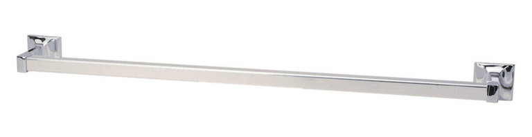 "Sunset Series Bathroom Collection, Polished Chrome, 24"" Towel Bar - Concealed Screw Mounting System"
