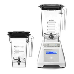 """Blendtec - Blendtec HP3A Blender WildSide Combo - White Base - Heavy-duty 1560 watts direct drive motor, commercial quality. 13 Amps. Computer controlled blend cycles make perfect drinks with one-touch operation. HP3A Base with Touch Pad controls. Six (6) Pre-programmed blend cycles, 25 total settings. Manual mode - 10 speeds. Six pre-programmed blend cycles. An exclusive Smart-Touch Tec-nology which means when a cycle button is pushed, the HP3A Blender automatically speeds up and slows down, then shuts off when the cycle is complete, so recipes turn out perfect every time. The HP3A blender has up to 25 pre-programmed settings for ice cream, smoothies, whole juice, ice crushing, soups, syrups, sauces, dips, dressings and batters. Manual speed control Manual Pulse control. Blue LCD display shows count. Solid state electronics and sleek touchpad ensure long life, dependable performance and easy to clean. Metal to metal driver contact for maximum durability. Lid with removable center piece adding ingredients while blending. Recipe book BPA-free 2 qt. capacity container with 3"""" blade. BPA-free WildSide large capacity pitcher with 4"""" blade. Square design with the fifth side takes blending to the extreme  Single-prong patented wingtip 4"""" blade New precision tuned 4"""" blade in the large nearly 3-quart total capacity BPA-free jar. The new large blade / large jar combination powers through tougher blending tasks and larger recipes with ease, and in less time. Durable BPA-free copolyester will stand up to heavy use. Ergonomic design allows for easy 3-way Pouring. Easy-open gripper lid allows ingredients to be added through center opening and vents pressure when blending hot liquid. Dimensions: 7.5"""" W x 15.5"""" H x 8"""" DFull 7-year manufacturer's warranty. Designed and Assembled in the USA."""