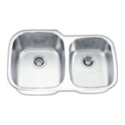 YOSEMITE HOME DECOR - Yosemite Home Decor MAG503PS 18-Gauge Stainless Steel Undermount Double Bowl Kit - These high quality Yosemite sinks are a heavy gauge, type 304 (18/8), surgical grade, stainless steel for maximum durability - 18-Percent chromium (for shine) and 8-Percent nickel (for rust resistance). Stainless steel is an extremely durable surface; it can, however, be scratched or scuffed. When scuffing does occur, please remember that this is normal and the effect will become uniform with age. The high quality stainless steel does not lose its attractive shine.