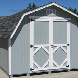 Little Cottage - Little Cottage 12 x 10 ft. Classic Wood Gambrel Barn Panelized Storage Shed Mult - Shop for Sheds and Storage from Hayneedle.com! Additional FeaturesInterior measures 11.4L x 7.4H feetDoor measures 5W x 6H feet The Little Cottage 12 x 10 ft. Classic Wood Gambrel Barn Panelized Storage Shed Kit is beautiful and well-made. Crafted from wood and featuring high quality siding aluminum trim and gable vents this is a shed you'll have for many years to come. With large double doors that make it easy to store equipment and other items this barn also features a door handle latch that locks so you can be sure your equipment is safe. With classic styling you'll love the look and feel of this barn without feeling a pinch in your wallet.About The Little Cottage CompanyNestled in the heart of Ohio's Amish country The Little Cottage Company resides in a quaint slow-paced setting where old-fashioned craftsmanship and attention to detail have never gone out of style. Their experienced carpenters and skilled designers take great pride in creating top-quality pre-built models and Do-It-Yourself kits of playhouses storage sheds and more.