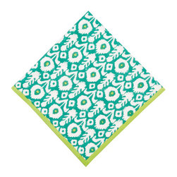 Origin Crafts - Ikat green & lime napkins (set of 4) - Ikat Green & Lime Napkins (Set of 4) The print of a thousand compliments... our new Ikat pattern is hand block printed with vibrant greens and limes, perfect for brightening up a fall dinner party. 100% cotton . Machine wash cold, tumble dry low, warm iron as needed. Made in India. Dimensions