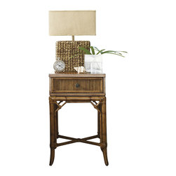 Tommy Bahama Home - Tommy Bahama Home Beach House Captiva Nightstand in Golden Umber - Tommy Bahama Home - Nightstands - 010540622 - Perfect for smaller spaces the single drawer keeps bedtime reading close at hand.