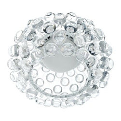 Halo Acrylic Crystal Semi-Flush Mount Ceiling Light - 12W in. Clear - The Halo Acrylic Crystal Flush Mount Ceiling Light - 12W in. Clear makes a designer impact in smaller spaces. This light suspends just a bit from the ceiling to cast light and designer style. The circular clear acrylic shade is accented by 3D acrylic crystal bubbles.About East End ImportsEast End Imports is based in New York City. They design and manufacture modern furniture and lighting that has an elegant, exciting, look that doesn't go out of style. East End Imports offers high-quality, innovative furniture at an affordable price. Their seating options, lounge furniture, and lighting are just right for the modern office, home bar, outdoor living space, or contemporary home. Quality construction and superb design make each piece a style statement of which you'll never tire.