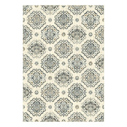 "Dynamic Rugs - Dynamic Rugs Heritage 89474-6151 (Ivory, Navy) 7'10"" x 10'10"" Rug - This Machine Made rug would make a great addition to any room in the house. The plush feel and durability of this rug will make it a must for your home. Free Shipping - Quick Delivery - Satisfaction Guaranteed"