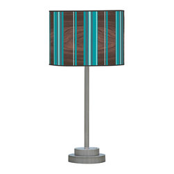 jefdesigns - Vertical Stripey 1 Stem Table Lamp - Add the optical illusion of length and spaciousness to your home with this stemmed table lamp in punchy stripes. Long and lean, this modern lamp will illuminate and provide a sense of perspective to your decor.
