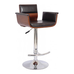 None - ACBS13 Retro Bar Stool - This retro bar stool has a chrome finish and base plate. This stool is padded and features a fully adjustable seat height so you can enjoy your counter or bar in style and comfort.