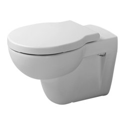 Duravit Foster Toilet - This wall-mounted toilet saves space in a small bathroom yet still provides plenty of style.