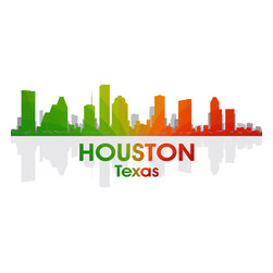 Houston Rainbow Spectrum Print - Known for its oil, NASA and 10 winding waterways that flow through the surrounding area, the Bayou City shines bright in a spectrum of color. Show off a little city pride with the digital and photographic layers on this mixed-media art.