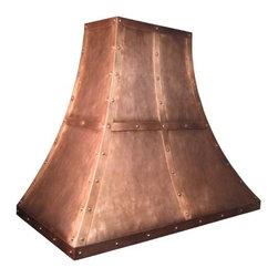 Copper Range Hood | Traditional Sweep | Vogler - Custom Copper Traditional Sweep Range Hood by Vogler Metalwork & Design.