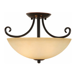 Hardware House - Oil Rubbed Bronze Semi-Flush Mount Ceiling Light Fixture - Finish: Oil Rubbed Bronze