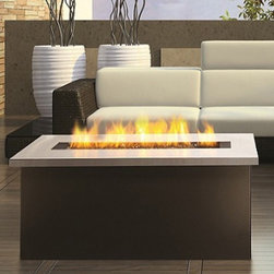 Key West Fire Coffee Table with Stainless Steel Top -