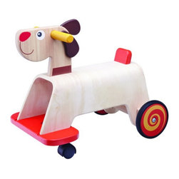 Wonderworld - Wonderworld Puppy Riding Push Toy Multicolor - WW-1541 - Shop for Living from Hayneedle.com! About Wonderworld by Smart GearAs a strong advocate of protecting the environment Wonderworld insists on using only rubber-wood that is a replenishable source that's widely accepted throughout the world as an environmentally-friendly material. Rubber-wood is a by-product from the culling of rubber trees in excess of 25 years of age that can no longer produce latex for commercial application and need to be replanted. This means not only is deforestation avoided but every part of the tree is used to its fullest. Wonderworld strictly adheres to their policy of only non-toxic colors and lacquers on their toys. Wonderworld uses only water-based wood paint for their wooden toys. This minimizes child exposure to chemicals use of underground fossil fuel CO2 emission and chemical waste released into the environment.