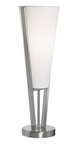 Dainolite - Dainolite 83322-SC Emotions Table Lamp Sc Finish White Linen Shade - Dainolite 83322-SC Emotions Table Lamp SC Finish White Linen Shade