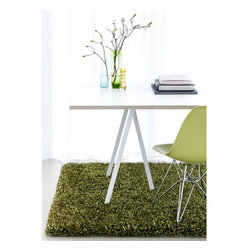 """Linie Design - Ronaldo Lime Rug - All rugs are designed by leading Scandinavian designers and specialist weavers. These rugs are handmade in India by adult weavers, from selected natural raw materials, using authentic traditional craftsmanship. Features: -Technique: Woven.-Material: New Zealand wool and polyester.-Can be custom-made upon request.-Vacuum cleaning is usually enough to clean the rug..-The rug should occasionally be shaken or beaten with a carpet beater..-When required, the rug should be professionally flat washed..-Construction: Handmade.-Distressed: No.-Construction: Handmade.-Technique: Hand woven.-Primary Color: Lime Green.-Type of Backing: Cotton Canvas Backing.-Material: 60% Polyester 40% New Zealand Wool.-Fringe: No.-Reversible: No.-Rug Pad Needed: Yes.-Water Repellent: No.-Mildew Resistant: No.-Stain Resistant: No.-Fade Resistant: No.-Swatch Available: Yes.-Eco-Friendly: Yes.-Outdoor Use: No.-Product Care: Vacuum, flat wash.-Country of Manufacture: India.Specifications: -CRI certified: No.-Goodweave certified: No.Dimensions: -Overall Product Weight (Rug Size: 5'7"""" x 7'9""""): 61 lbs.-Overall Product Weight (Rug Size: 6'6"""" x 9'8""""): 90 lbs."""