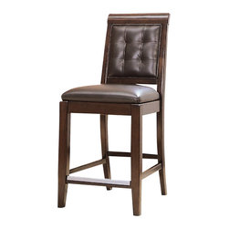 American Drew - American Drew Tribecca Leather Barstool in Root Beer Color - The Tribecca mixes it up with modern, Art Deco, and Asian influences. Lighter scaled, with classic clean lines and pared down forms, Tribecca's inviting textures, rich wood tones and nickel finish hardware could be just the fresh look you've been trying to imagine for the new retirement condo on the shore or a trendy city loft.