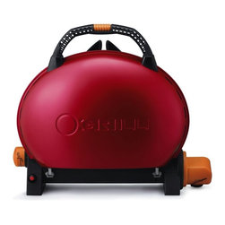 Pro-Iroda - O-grill Portable Upright Gas Grill 500, Red - -Porcelain-enameled cast iron cooking grid