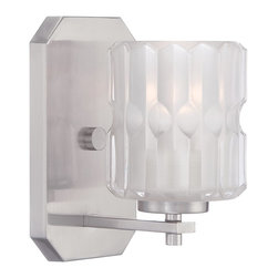 Designers Fountain - Designers Fountain Valeta Bath / Vanity / Wall Sconce with Clear Etched, Satin P - Designers Fountain Valeta Bath / Vanity / Wall Sconce with Clear Etched, Satin Platinum X-PS-10676