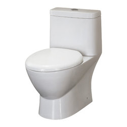 Ariel Platinum - Ariel Platinum Adriana Contemporary European Toilet w/ Dual Flush 28x15x28 - Ariel cutting-edge designed one-piece toilets with powerful flushing system. It's a beautiful, modern toilet for your contemporary bathroom remodel.