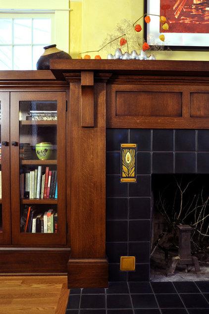 Craftsman Living Room by RR Chandler Design Build Renovate