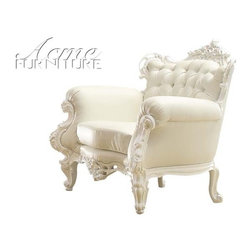 Acme Furniture - Nels White Accent Chair - 59137 - Neo Classic collection Accent Chair
