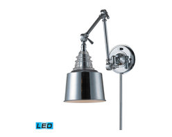ELK Lighting - ELK Lighting 66805-1-LED Insulator Glass Polished Chrome Wall Sconce - ELK Lighting 66805-1-LED Insulator Glass Polished Chrome Wall Sconce