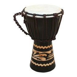X8 Drums Kalimantan Djembe Drum with Tote Bag - The X8 Drums Kalimantan Djembe Drum with Tote Bag is a wonderful drum for your child to learn on. This beautiful drum is constructed from a solid piece of mahogany. And the included tote bag makes transporting this gem easy as pie. About X8 DrumsX8 Drums truly walks to the beat of their own drum. This family-owned company is committed to providing the best selection of high-quality musical instruments with an emphasis on world music percussion instruments. X8 Drums has certainly helped champion ethnic hand drums in the digital age thanks to its founders - a New York City rocker and an internet sage.