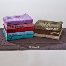None - Calcot Zero Twist Supima Cotton Loops Bath Mats 900 GSM (Set of 2) - This set of two affordable bath mats features zero-twist construction and is crafted of the highest-quality Supima cotton. They come in an array of rich colors to match your bathroom decor. Easily throw them in the washing machine come cleaning time.