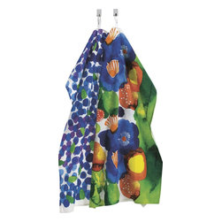 Set of Marimekko Juhannustaika Dish Towels - Hello, gorgeous. Welcome to my kitchen. Who knew dish towels could be so fabulous?