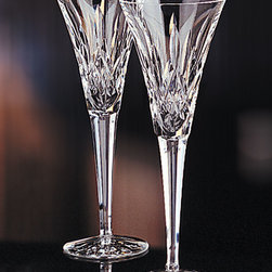 "Waterford Crystal ""Lismore"" Crystal Toasting Flutes -"