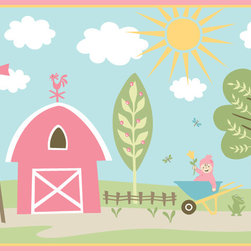 Murals Your Way - Farmer Girl Wall Art - Painted by Sheri McCulley, the Farmer Girl wall mural from Murals Your Way will add a distinctive touch to any room