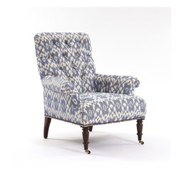 Dawson Chair - Dawson Chair in Caravan Ikat/Old Blue