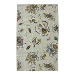 American Rug Craftsmen - Concord Doolittle Mushroom Floral Scrolls 5' x 8' American Rug Craftsmen - Our Concord Collection is reminiscent of the global tradition of hand hooked craftsmanship. The collection features a textured feel that reflects its historical inspiration. Bold colors and fashionable designs set this group of rugs apart. Printed on the same machines that manufacture one of the world