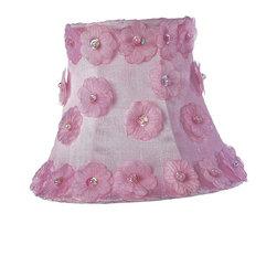 Jubilee Collection - Chandelier Shade - Petal Flower - Pink - Material: silk, metal. 3 x 5 x 4 in.