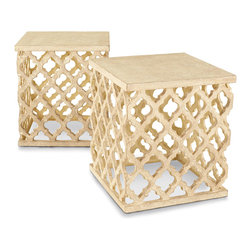 "Horchow - ""Moroccan"" Garden Seat - Use these garden seats as plant stands or side tables on your porch or patio."