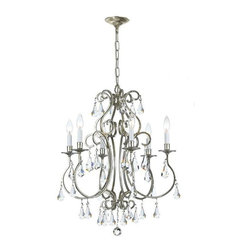 Crystorama Lighting - Crystorama Lighting 5016-OS-CL-MWP Ashton Transitional Chandelier - Crystorama Lighting 5016-OS-CL-MWP Ashton Transitional Chandelier in Olde Silver with Clear Hand Cut Crystal