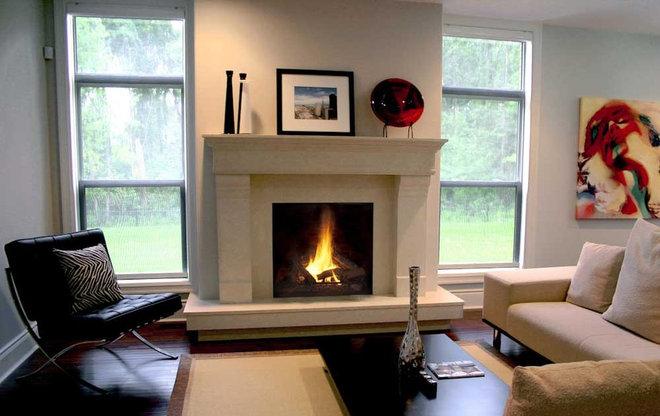 Contemporary Fireplaces by Dekko Concrete Decor