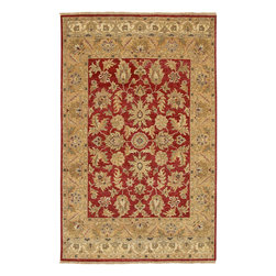 Timeless TIM-7901 Red Rug - 2'x3' - Timeless TIM-7901 Red: Traditional rugs inspired by Persian rugs, Antique Oriental rugs or other traditional area rugs are available now. ModernRugs. om is now also featuring traditional rug designs. Traditional Persian and Oriental rugs from ModernRugs. om are now available in a variety of colors and styles, and complement any space. Our traditional Persian rugs provide an elegant look. These Traditional antique Oriental rugs are timeless and add a touch of class to your home. This Traditional area rug is Hand Knotted in India with 100% New Zealand Hard Twist Wool. The specific colors of this rug include Red, Beige, Gold, Rust, Black, Sandalwood. he primary color of this rug is red.