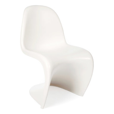 """Vertigo Interiors USA - Verner Panton Style Classic 'S' Dining Lounge Side Chair , White - The Verner Panton Style Classic """"S"""" Dining Lounge Side Chair is constructed from heat molded ABS plastic and is durable, non-toxic, and easy to clean."""
